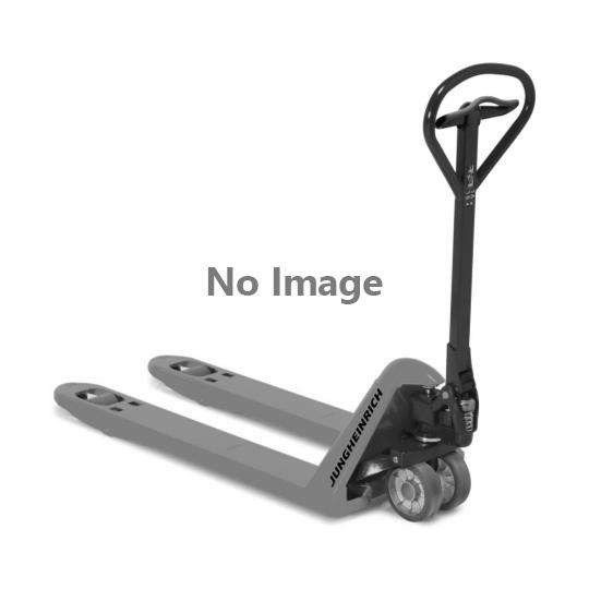 Jekketralle som brukes for å flytte displaypaller i salgslokale.